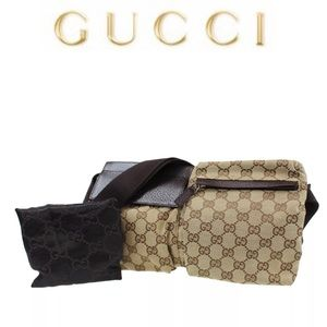 Authentic GUCCI Waist bag/ fanny pack brown canvas
